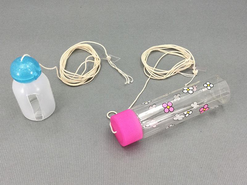 自作バードシンギング:百均の化粧水入れで作っバードシンギング