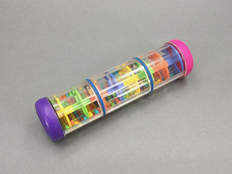 レインスティック:プラスチック製のレインスティック